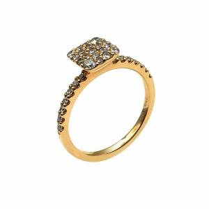 Anel Ouro com Diamantes AN4815