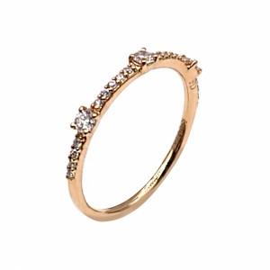 Anel Memória Ouro e Diamantes AN5256