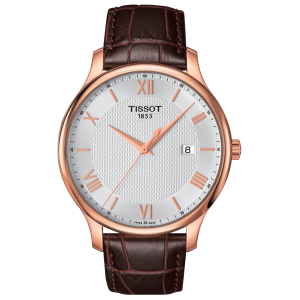 Tradition Gent Pvd Leather/silver (Classic) T063.610.36.038.00