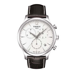 Tradition Chr Wht/brown Leather (Classic) T063.617.16.037.00