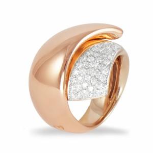 Anel Ouro rosa/branco K DI KUORE 433636