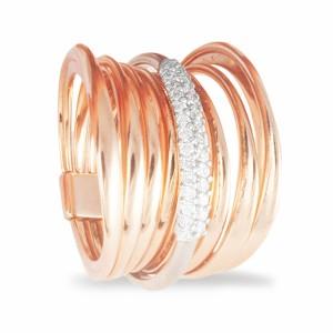 Anel ouro rosa K DI KUORE 432995
