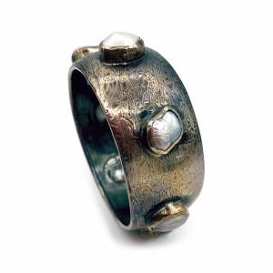 Pulseira Prata com 7 Pedras Barrocas PU01403