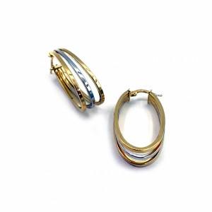 Argolas em Ouro Bicolores BR09092