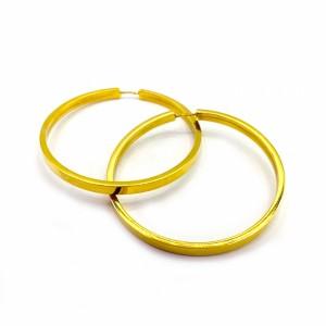 Argolas em Ouro Amarelo Fio Quadrado